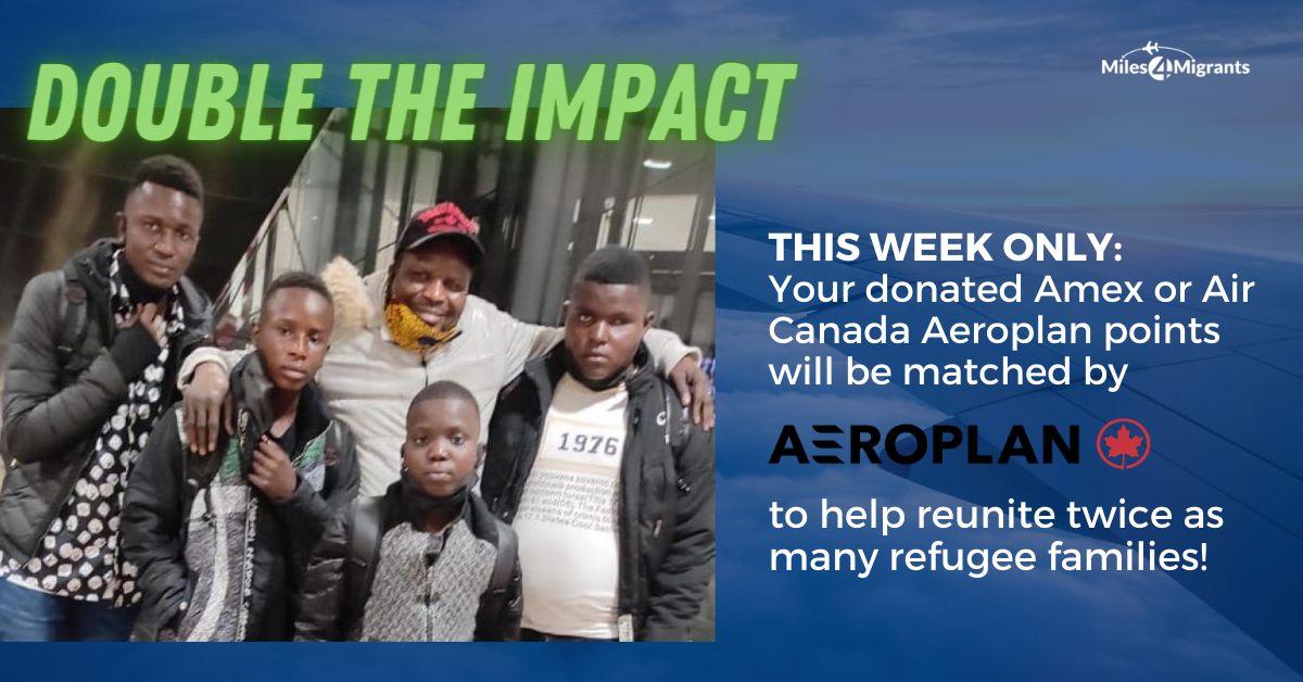 This Week Only: Double Your Impact with Aeroplan Donation Matching
